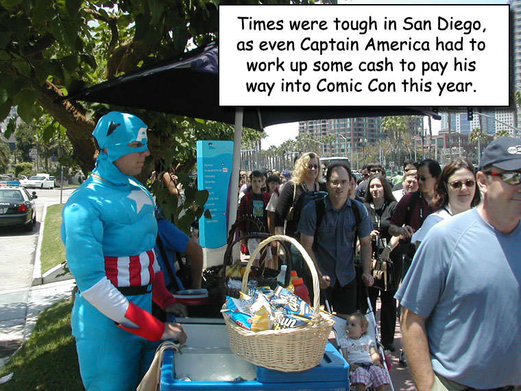 Comic Con: Captain America's Job