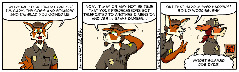 April Fool's Day Comic Swap: Suburban Jungle