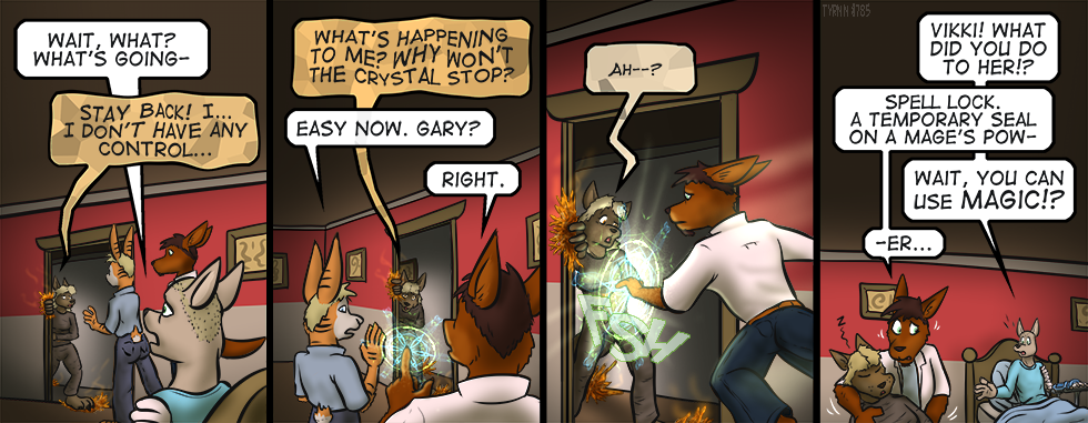 ...and clean up all that crystal.